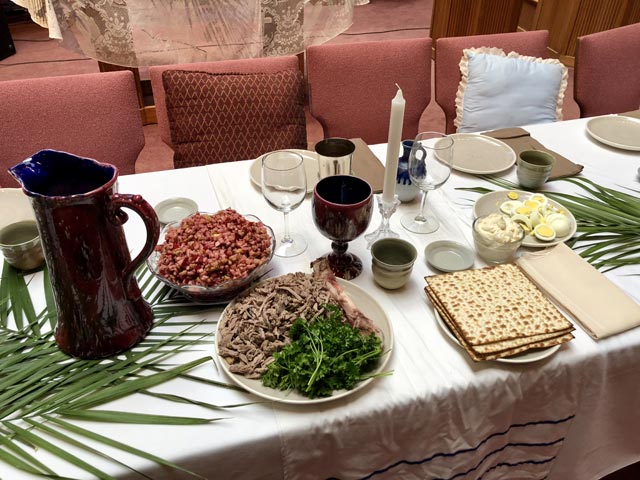 Maundy Thursday Ceremony, Traditional Food, Oakwood United Methodist Church, Lubbock Texas